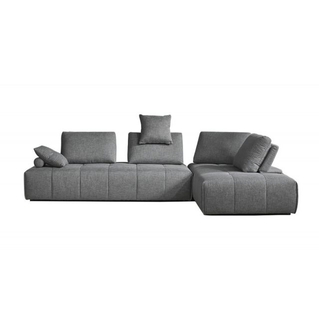 MEUBLETMOI Canapé d'angle modulable gauche ou droit - SUDOKU