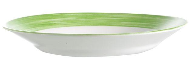 Lebrun Assiette plate 22.5 cm vert Brush
