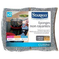 Starwax - Eponge argent non rayante x2