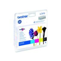 BROTHER - LC-970VALBP - Pack de 4 cartouches d'encre couleurs