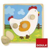 Jumbo - Encastrement 4 pièces en bois : Puzzle poule
