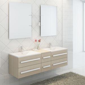 Import&DIFFUSION - Ensemble complet meuble salle de bain Pure 2 ...