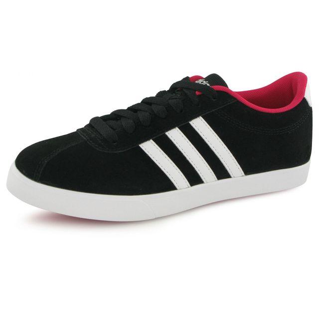 Adidas - Baskets Courtset W Noir Femme 36 2/3 - pas cher Achat / Vente Baskets femme - RueDuCommerce