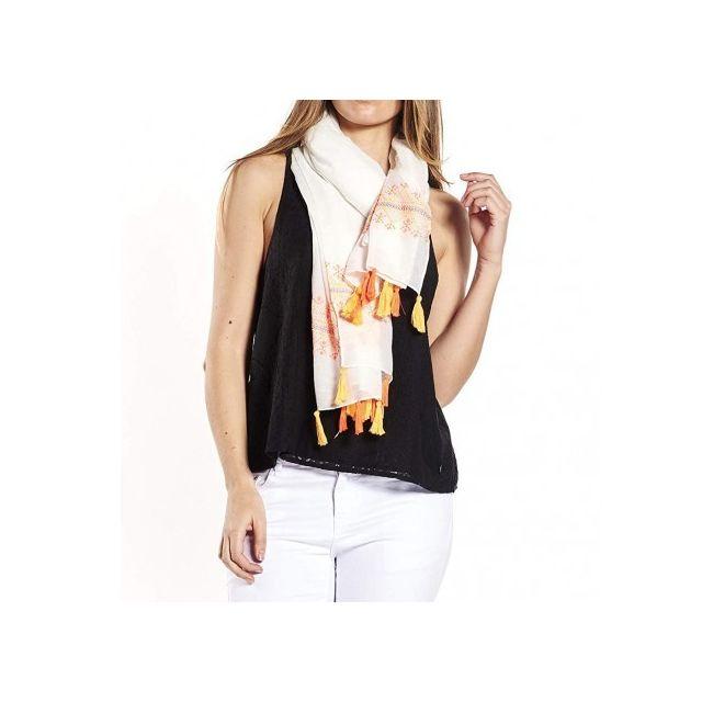 Deeluxe - Colorado Femme Foulard Blanc - pas cher Achat   Vente Echarpes,  foulards - RueDuCommerce cc6fd75f543