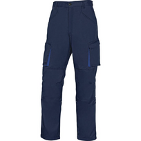 DELTA PLUS - PANTALON DE TRAVAIL MACH 2 EN POLYESTER/COTON Bleu Marine- Bleu Roi -M2PW2BM