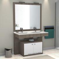 creazur meuble double vasque pmr altea vienna 120 cm - Meuble Double Vasque 140 Cm