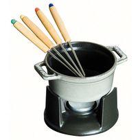 Staub - mini fondue à chocolat en fonte 10cm 4 personnes gris graphite - 1400418