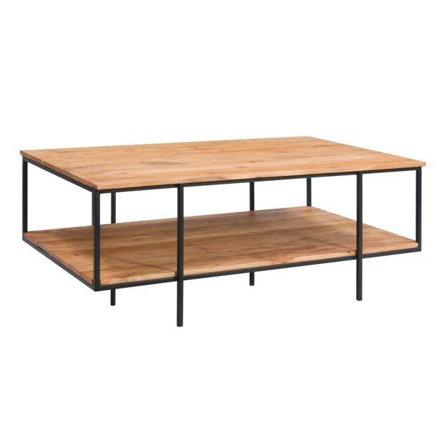 Rendez Vous Deco Table basse Pamela en bois et métal
