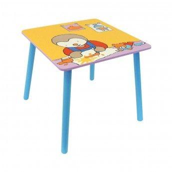 Tchoupi Table en Bois Carrée