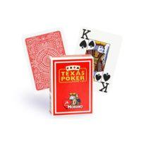 Modiano - Cartes Texas Poker 100% plastique rouge