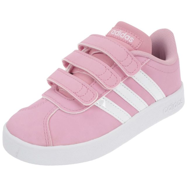 the latest 755ce 57bfb Adidas Neo - Chaussures scratch Vl court 2.0 cmf Rose 76567 - pas cher  Achat   Vente Baskets enfant - RueDuCommerce