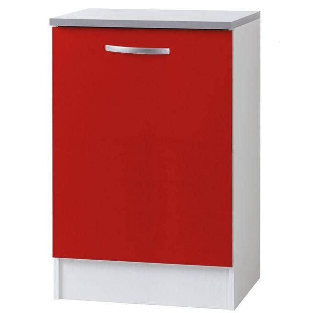 Paris prix meuble bas 1 porte 60cm smarty rouge sebpeche31 for Meuble bas prix