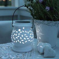 Best Season - Clay Lantern - Lanterne Solaire d'extérieur Led Blanc H14,5cm - Luminaire d'extérieur designé par