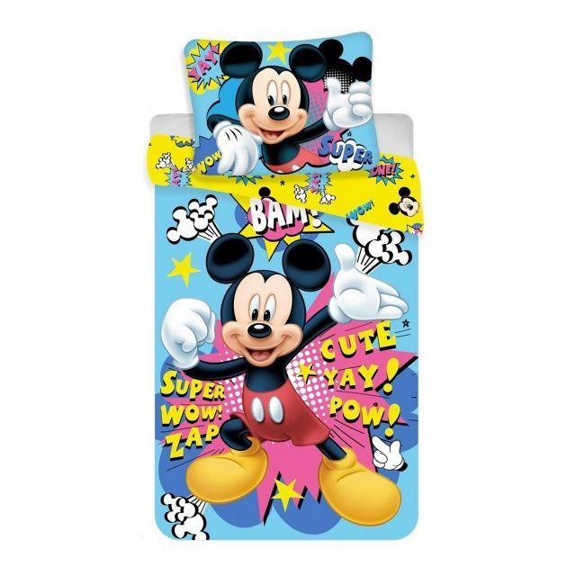 Mickey mouse disney parure de lit enfant housse de couette multicolore 140 200 pas - Parure de lit enfant disney ...