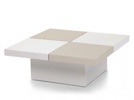 Marque Generique Table basse Calisto avec coffre - Mdf - Taupe et blanc