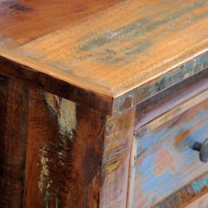 Rocambolesk - Superbe Armoire de chevet en bois solide recyclé avec 2 tiroirs Neuf Nc