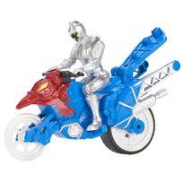 POWER RANGERS DINO SUPER CHARGE - Moto Cascade + Figurine 12 cm - Argent - 43078