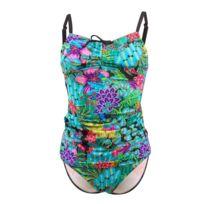 663a753854 Lolita Angels - Maillot de bain 2 Pièces Tankini Beach New Flower Jungle  Vert