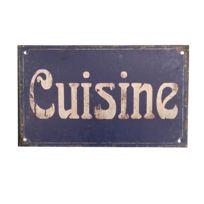 Plaque De Porte Rectangulaire Murale Cuisine Bleu 12 50cm