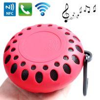 Wewoo - Enceinte Bluetooth étanche rouge Haut-parleur imperméable à l'eau portatif de sports de plein air avec la boucle appel mains libres, fonction de Nfc