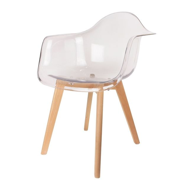 the concept factory fauteuil scandinave transparent blanc pas cher achat vente fauteuils. Black Bedroom Furniture Sets. Home Design Ideas