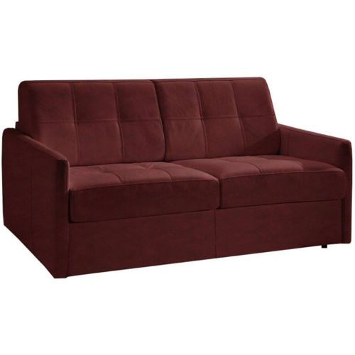 inside 75 canap convertible cube en microfibre bordeaux couchage 160cm ouverture rapido. Black Bedroom Furniture Sets. Home Design Ideas
