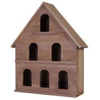 Mendler - Maison de décoration Kamnik, maison en bois, style shabby, vintage 37x30x10cm