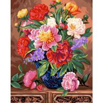 Oz International - Peinture au numéro Maxi : Bouquet de pivoines