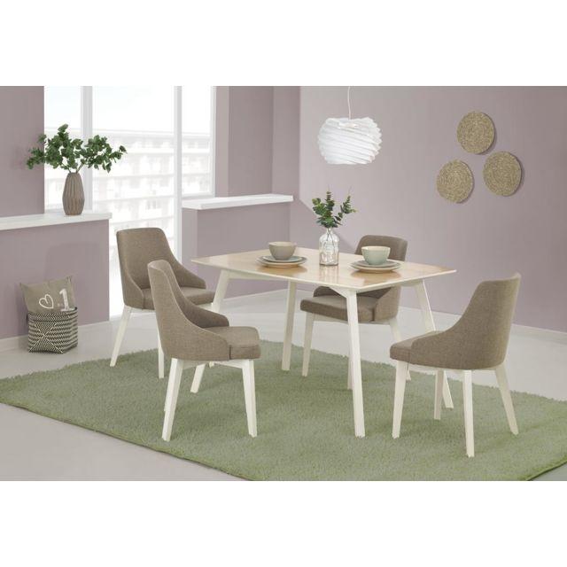 Carellia Table à manger rectangulaire 120 cm x 85 cm x 75 cm
