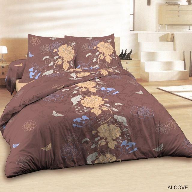 100pourcentcoton housse de couette 240x260cm 2 taies d 39 oreiller 65x65 cm alcove dv pas. Black Bedroom Furniture Sets. Home Design Ideas