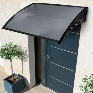 idmarket auvent de porte 80x120 cm marquise d 39 accueil teint e pas cher achat vente. Black Bedroom Furniture Sets. Home Design Ideas