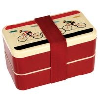 Dotcomgiftshop - Grande Boîte Bento Le Bicycle + Couverts