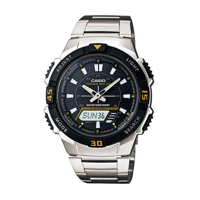 Casio Aqs 800WD 1E Montre solaire alarme chrono double  ffEch