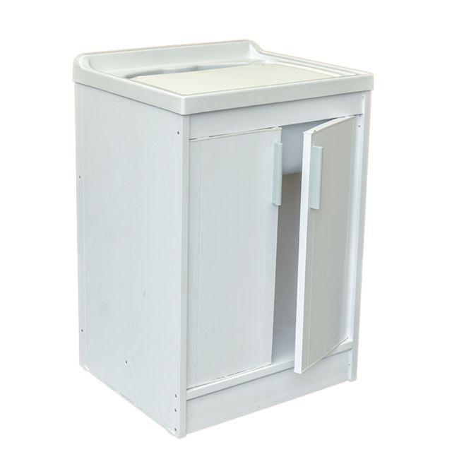 garofalo meuble vier en resine 2 portes pour buanderie pas cher achat vente abris en pvc. Black Bedroom Furniture Sets. Home Design Ideas
