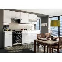 Baltic Meubles - Cuisine Apia blanc laqué - 2m40/7 meubles