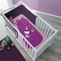 Selene Et Gaia - Turbulette fée violette en coton pour enfant - Prunette Couleur - Imprimé, Taille - Turbulette 6 à 36 mois / 60 x 100 cm