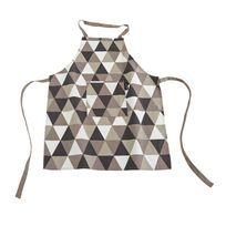 Ziczac - Tablier enfant 100% coton motif scandinave Shape - Taupe