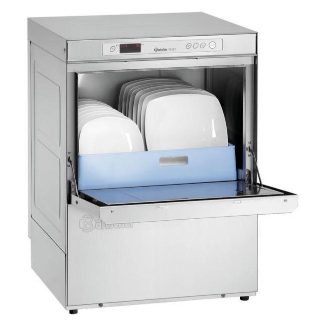 Bartscher Lave vaisselle professionnel avec adoucisseur - 50x50 cm - 5,06 kW 400V triphase