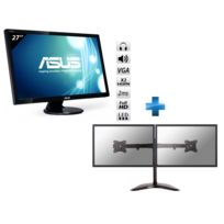 ASUS - Ecran 27''LED 2ms Full HD VGA / 2x HDMI + Support de bureau pour 2 écrans plat de 10