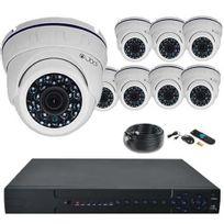 Securitegooddeal - Kit vidéosurveillance Ahd Pro 1080P 8 dômes 2,0MP