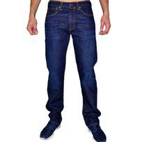 Levi'S - Levis - Jean - Homme - 501 Original Prenium - Wool Jeans - Bleu Foncé Délavé