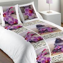 Les Ateliers Du Linge - Parure De Lit Zen Flower Multicolore 140 X 200