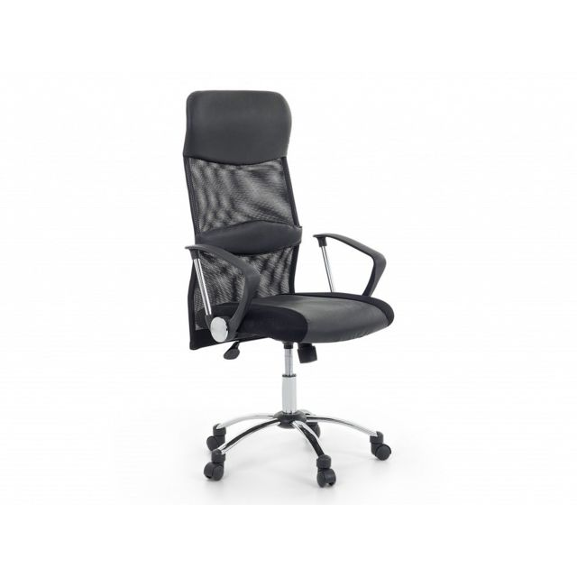 Beliani Chaise de bureau - fauteuil en cuir noir - Design