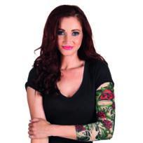 e92bfe8b88db0 Sans - Manche tatouages roses femme - taille - Taille Unique - 235500