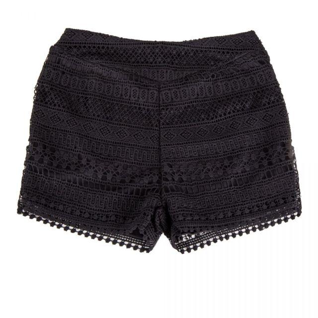 4d236d0756373 Red Soul - Short en crochet noir femme - pas cher Achat / Vente Short femme  - RueDuCommerce