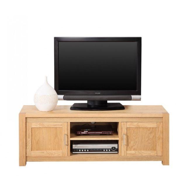 beaux meubles pas chers meuble banc tv hifi ch ne clair marron pas cher achat vente. Black Bedroom Furniture Sets. Home Design Ideas