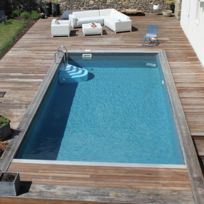 Piscine semi enterr e achat piscine semi enterr e pas - Piscine rectangulaire semi enterree ...