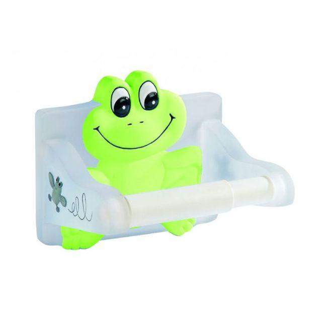 planetebain porte papier fantaisie grenouille en resinef vert et blanc pas cher achat. Black Bedroom Furniture Sets. Home Design Ideas