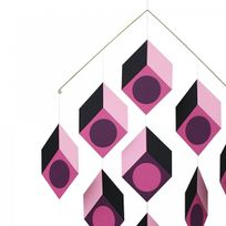 Livingly - Mobile Cubillusion Rose Type Vasarely
