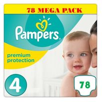 Pampers - Premium Protection Taille 4 8-16kg , Pack de 78